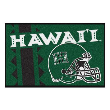 FANMATS University Of Hawaii Uniform Jersey Inspired Starter Rug