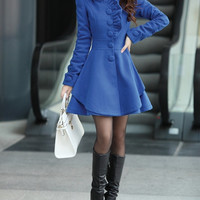 Sapphire/Khaki women's Princess style dress Coat jacket spring autumn winter coat jacket cute coat