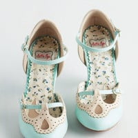Triple Your Fancy Heel in Mint | Mod Retro Vintage Heels | ModCloth.com