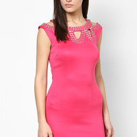 Bright Pink Sleeveless Bodycon Dress