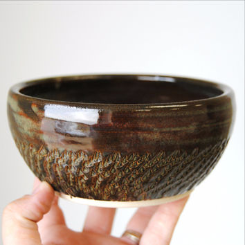 Metallic Brown Bowl