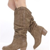 Women's Cowboy Knee High Slouchy Cowgirl Western Boots, 8 Available Colors