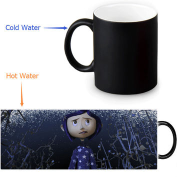 Coraline magic color changing coffee mug