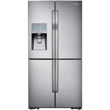 Samsung 30.39 cu. ft. French Door Refrigerator in Stainless Steel-RF32FMQDBSR at The Home Depot
