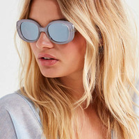 Quay Lulu Oval Sunglasses | Urban Outfitters