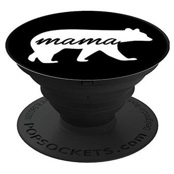 Triple G Mavs Mama Bear Black PopSockets Stand for Smartphones and Tablets