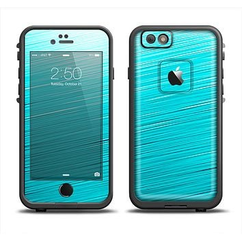 The Light Blue Slanted Streaks Apple iPhone 6 LifeProof Fre Case Skin Set