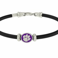 Clemson Tigers Silver Jewelry and Rubber Bracelets