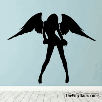 Sexy Angel Pin-Up Girl Wall Decal #00015