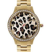 Betsey Iconic Goldtone Leopard Dial Watch | Dillards.com