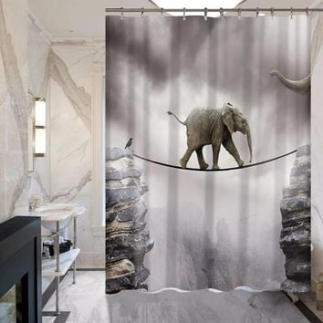 Elephant Series Shower Curtain - Non-fading - Polyester - Waterproof - Multiple Styles