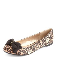 Satin Double Bow Ballet Flat: Charlotte Russe