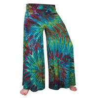Mudmee Tie Dye Yoga Pants -- Mexicali Blues