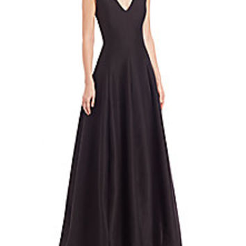 Halston Heritage - Silk Faille Cap-Sleeve Gown - Saks Fifth Avenue Mobile