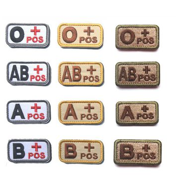 REEBOW TACTICAL Lots of 2 pieces Tactical Blood Type Patches Outdoor Military Camping First Aid Emergency Rescue Armband Patch
