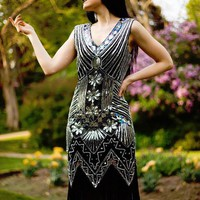 Pickford Flapper Dress (Gold or Silver)