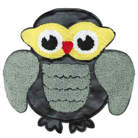 ON SALE 15% OFF Xl Extra Large 20cm Chenille & Black Vinyl Owl Patch Applique