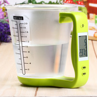 New Hostweigh NS - C01 LCD Kitchen Digital Scale Measuring Cup Coffee Tea Weighing Device Thermometer Household Supplies