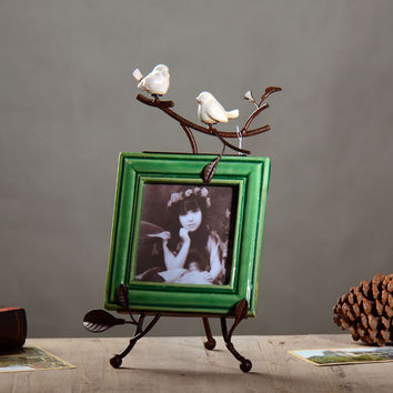 Country Style Iron Style Metal Decoration Photo Frame [6283030854]