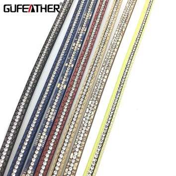 GUFEATHER Leather Cords/jewelry accessories/accessories parts/jewelry findings/embellishments rope/DIY/jewelry made
