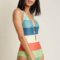 Shoreline Itinerary One-Piece Swimsuit
