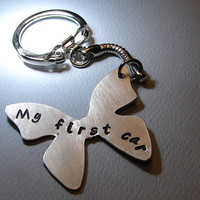 Butterfly Key Chain with My First Car Handmade From by NiciLaskin