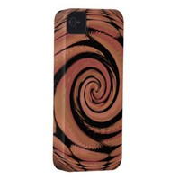 Rosy Beige Spinning Abstract iPhone 4 Case-Mate Cases