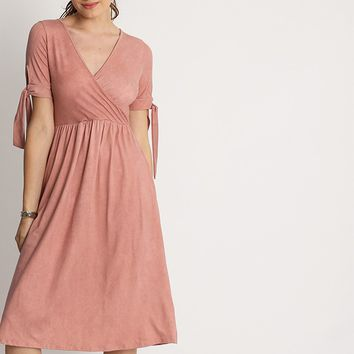 Emilia Surplice Midi Dress | Ruche