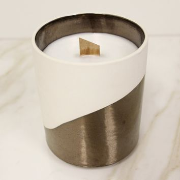 Copper Ceramic Wave Candle