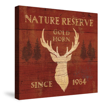 Lodge Signs IX (Nature Reserve) Canvas Wall Art