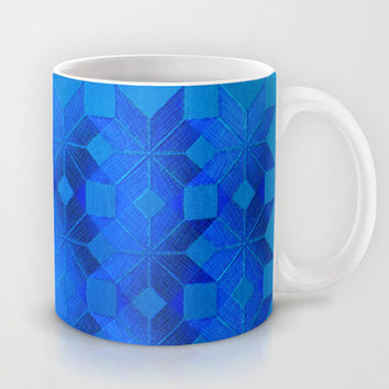 Twilight Mug by Gréta Thórsdóttir  #scandinavian #snowflake #pattern #blue #cobalt #ombre #nightfall #kitchen