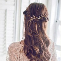 Retro Metal Branches Hairpins Jewelery Women Hair Clip Fashion Designer Hair Clip Ladies Hair Accessories