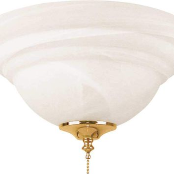 Bala® Ceiling Fan Bowl Type Light Kit With Two 13 Watt Compact Fluorescent Type Lamps, Alabaster Glass