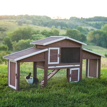 Boomer & George Dual-Use Rabbit Hutch Chicken Coop | www.hayneedle.com