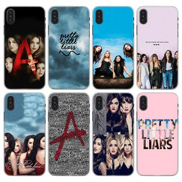 Pretty Little Liars Pattern Transparent hard Phone Case for Apple iPhone X XS XR XS MAX 7 8 Plus 6 6s Plus SE 5S
