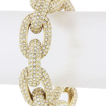 The Princess Kate Chunky Crystal Encrusted Chain Bracelet