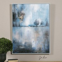 Uttermost Pale Blue Lake At Dusk Canvas Art Designed By Jim Parsons Pale Blue 36100 From Lake At Dusk Collection