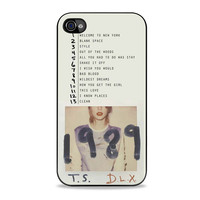 Taylor Swift 1989 Deluxe Edition song album top band music Iphone 4s Case