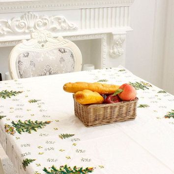 Christmas Disposable Tablecloth Festive Rectangle Table Cloth Xmas Tableware Dining Kitchen Tools
