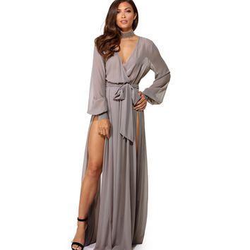 Esmeralda Gray Romance Dress