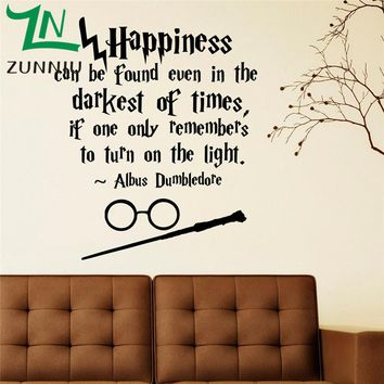 Harry Potter quotes  Wall Art Sticker Decal Home DIY Decoration Wall Mural Room Decor Stickers