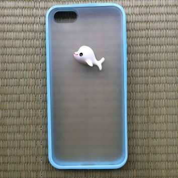 animal case dolphin charm phone case for iphone 5 5s colorful silicone frame hard back