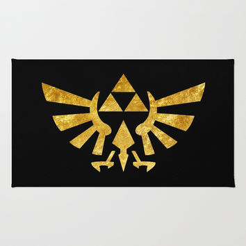 Zelda Golden Hylian Crest Rug by Foreverwars