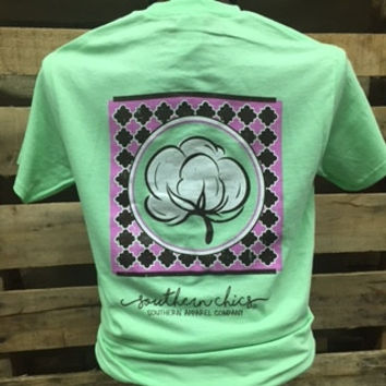 Southern Chics Apparel Preppy Cotton Mint Country Girlie Bright T Shirt