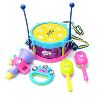 5pcs Roll Drum Musical Instruments Band Kit Kids Children Toy Gift Set New = 1946132164