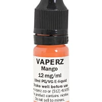 Mango Flavor Vaperz E-Liquid 10ml Bottle at Hookah Company