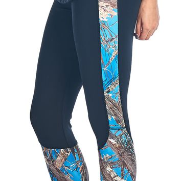 Women's Camo Capri Leggings Authentic True Timber Pants Made in USA