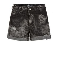 New Look Mobile | Black Acid Wash Ripped Shorts