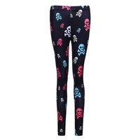 DCCKH6B Hot Sales! 3D Print Leggings Women Skull Head Printed Leggings Workout Clothes For Women