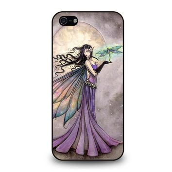 FAIRY DRAGONFLIES MOON iPhone 5 / 5S / SE Case Cover